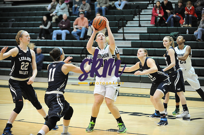 Stevenson women's basketball dropped their second straight game Wednesday night at Owings Mills gymnasium, when they fell 59-53 to Lebanon Valley.