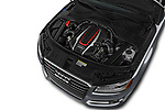 Car stock 2018 Audi S8 4.0-TFSI-quattro-Tiptronic-Plus  4 Door Sedan engine high angle detail view