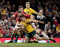 Australia's Michael Hooper scores his sides third try<br /> <br /> Photographer Simon King/CameraSport<br /> <br /> International Rugby Union - 2017 Under Armour Series Autumn Internationals - Wales v Australia - Saturday 11th November 2017 - Principality Stadium - Cardiff<br /> <br /> World Copyright &copy; 2017 CameraSport. All rights reserved. 43 Linden Ave. Countesthorpe. Leicester. England. LE8 5PG - Tel: +44 (0) 116 277 4147 - admin@camerasport.com - www.camerasport.com