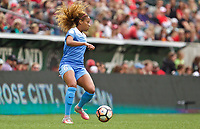 Portland, OR - Saturday April 29, 2017: Casey Short during a regular season National Women's Soccer League (NWSL) match between the Portland Thorns FC and the Chicago Red Stars at Providence Park.