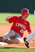 Team Canada Justin Atkinson #22 during a game vs the Nexen Heroes at Al Lang Field in St. Petersburg, Florida;  February 28, 2011.  Canada defeated Nexen 2-0.  Photo By Mike Janes/Four Seam Images