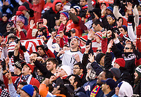 United States fans welcome their team onto the field before an international friendly at New Meadowlands Stadium in East Rutherford, NJ.  The United States tied Argentina, 1-1.