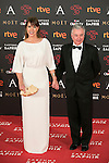 Mabel Lozano and Eduardo Campoy attends 30th Goya Awards red carpet in Madrid, Spain. February 06, 2016. (ALTERPHOTOS/Victor Blanco)