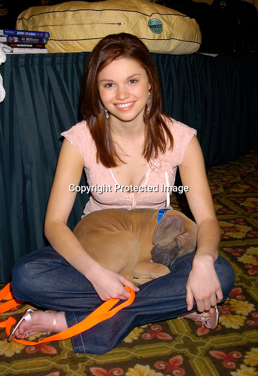 "Mandy Bruno and Hutch ..at the  37th Annual  ""Going Home""  Luncheon for Animal Haven on October 17, 2004 at the Sheraton LaGuardia East...Photo by Robin Platzer, Twin Images"