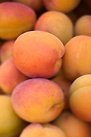Europe/France/Rhône-Alpes/26/Drôme/Nyons: Abricots Bergeron sur le marché paysan