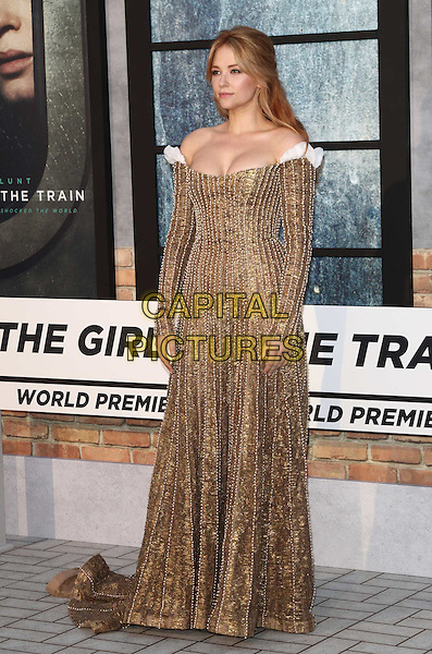 Haley Bennett at The Girl on the Train - world film premiere at the Odeon Leicester Square. London on September 20th 2016<br /> CAP/ROS<br /> &copy;Steve Ross/Capital Pictures