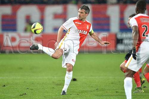 04.03.2016. Caen, France. French League 1 football. Caen versus Monaco.  JEREMY TOULALAN (mon) with a delicate touch on the ball