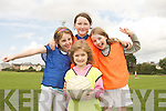 Cliona Daughton, Kirby-Anne Ryan, Megan Lyons and Roisin Lyons (in middle) enjoying the Ógras Summer Camp the Caherslee GAA Grounds and Cumann Iosaef Centre on Thursday.
