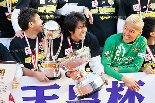 (L-R) Koki Mizuno, Masato Kudo, Takanori Sugeno (Reysol), JANUARY 1, 2013 - Football / Soccer : The 92nd Emperor's Cup Final match between Gamba Osaka 0-1 Kashiwa Reysol at National Stadium, Tokyo, Japan. (Photo by AFLO SPORT)