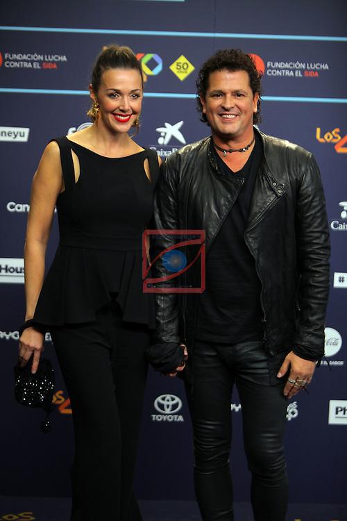 Los 40 MUSIC Awards 2016 - Photocall.<br /> Claudia Elena Vasquez &amp; Carlos Vives.