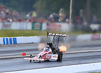 May 31, 2014; Englishtown, NJ, USA; NHRA top fuel driver Steve Torrence during qualifying for the Summernationals at Raceway Park. Mandatory Credit: Mark J. Rebilas-