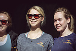 Jip Van Den Bos and Anna Van Der Breggen (NED) Boels Dolmans Cycling Team at the Team presentation of La Fleche Wallonne Femmes 2018 running 118.5km from Huy to Huy, Belgium. 17/04/2018.<br /> Picture: ASO/Thomas Maheux | Cyclefile.<br /> <br /> All photos usage must carry mandatory copyright credit (&copy; Cyclefile | ASO/Thomas Maheux)