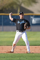 Sandra Day O'Connor High School Eagles third baseman Nolan Gorman (9) during a game against the Chandler High School Wolves on February 21, 2018 at Sandra Day O'Connor High School in Phoenix, Arizona. (Zachary Lucy/Four Seam Images)