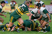Mark Price breaks from a ruck. Counties Manukau Premier Club Rugby, Pukekohe v Manurewa  played at the Colin Lawrie field, on the 17th of April 2006. Manurewa won 20 - 18.