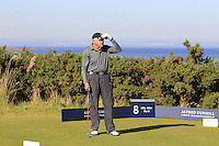 Hansjorg Wyss (AM) on the 8th tee during Round 1 of the 2015 Alfred Dunhill Links Championship at Kingsbarns in Scotland on 1/10/15.<br /> Picture: Thos Caffrey | Golffile