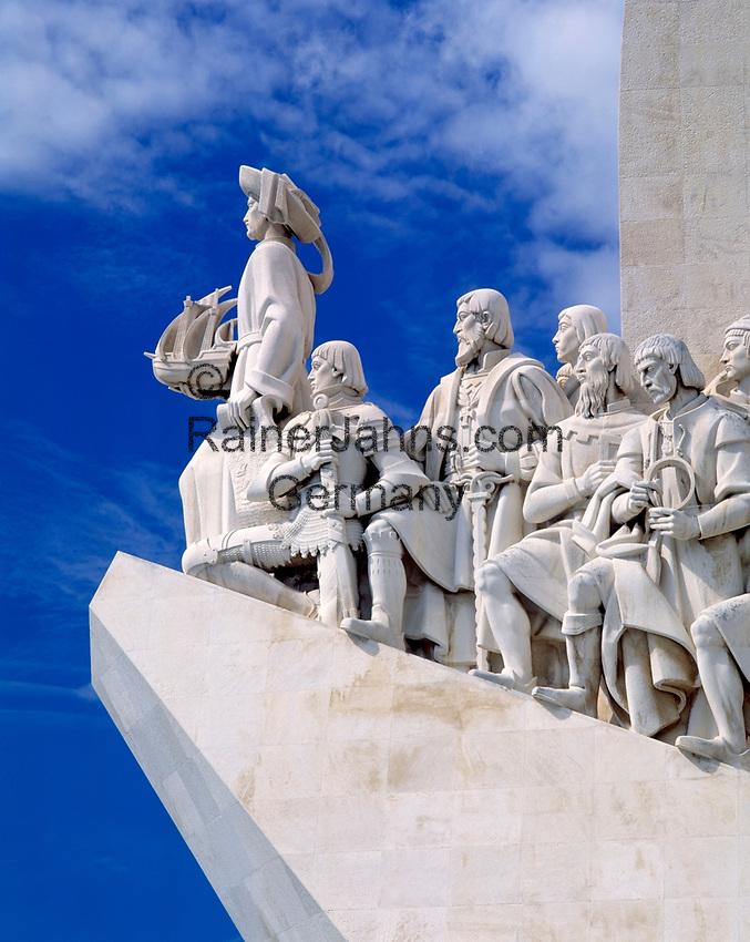 Portugal, Belém: Padrao dos Descobrimentos - Denkmal der Entdeckungen   Portugal, Belém: Padrao dos Descobrimentos