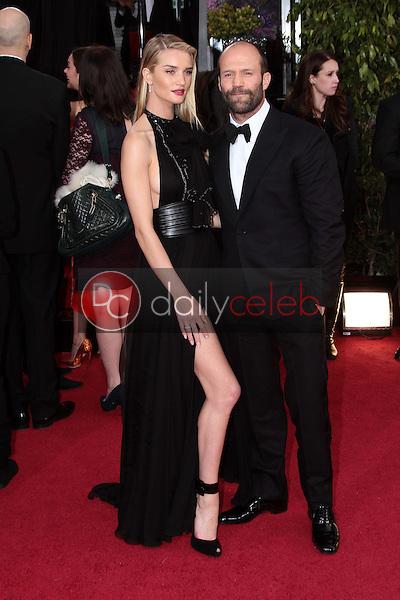 Rosie Huntington-Whiteley, Jason Statham<br /> at the 70th Annual Golden Globe Awards Arrivals, Beverly Hilton Hotel, Beverly Hills, CA 01-13-13<br /> David Edwards/DailyCeleb.com 818-249-4998