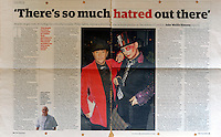 Guardian<br /> Philip Salon &amp; Boy George by PL<br /> tearsheet