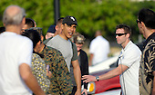 Honolulu, HI - December 22, 2008 -- United States President-elect Barack Obama walks to his motorcade after greeting well wishers after his morning gym workout at Marine Corps Base Hawaii Kaneohe Bay on Monday, December 22, 2008..Credit: Joaquin Siopack - Pool via CNP