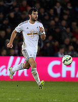 SWANSEA, WALES - MARCH 16: Jordi Amat of Swansea in action during the Premier League match between Swansea City and Liverpool at the Liberty Stadium on March 16, 2015 in Swansea, Wales. photo by Athena Pictures/Getty Images)