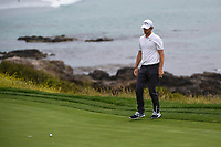 Thomas Pieters (BEL) lips out his putt on 8 during round 1 of the 2019 US Open, Pebble Beach Golf Links, Monterrey, California, USA. 6/13/2019.<br /> Picture: Golffile | Ken Murray<br /> <br /> All photo usage must carry mandatory copyright credit (© Golffile | Ken Murray)