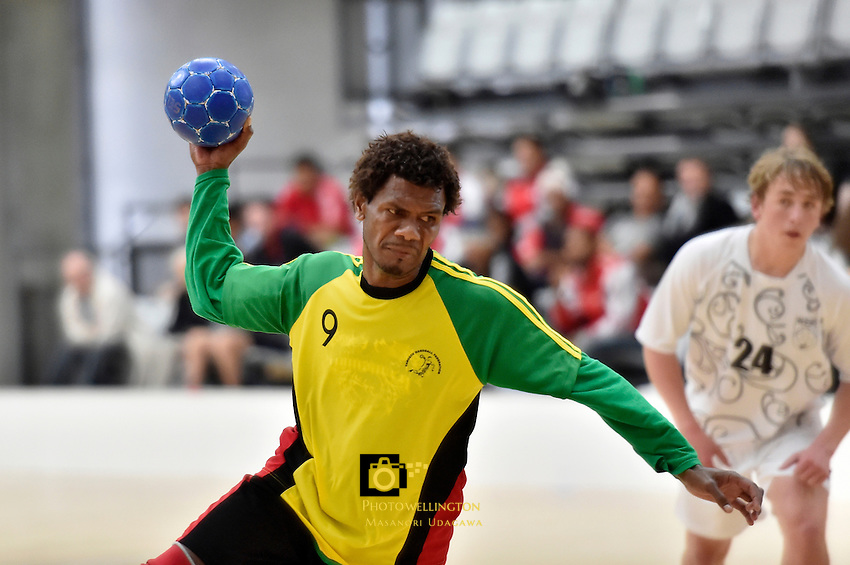 Action from the IHF Trophy Tournament Oceania at ASB Sports Centre, Kilbirnie, Wellington, New Zealand on Tuesday 9 December 2014.<br />