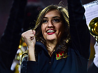 College Park, MD - NOV 25, 2017: Maryland Terrapins cheerleader performs during game between Maryland and Penn State at Capital One Field at Maryland Stadium in College Park, MD. (Photo by Phil Peters/Media Images International)