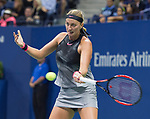 September  3, 2017:  Petra Kvitova (CZE) defeated Garbine Muguruza (ESP)  7-6, 6-3, at the US Open being played at Billy Jean King Ntional Tennis Center in Flushing, Queens, New York. Leslie Billman/EQ