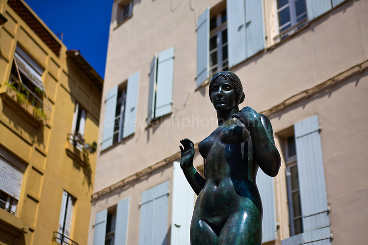 Statue of Venus by Aristide Maillol at Place de la Loge, in the southern French city of Perpignan, in  Languedoc Roussillon, France.