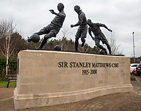 11th January 2020; Bet365 Stadium, Stoke, Staffordshire, England; English Championship Football, Stoke City versus Milwall FC; The Stanley Matthews memorial at the Bet365 Stadium - Strictly Editorial Use Only. No use with unauthorized audio, video, data, fixture lists, club/league logos or 'live' services. Online in-match use limited to 120 images, no video emulation. No use in betting, games or single club/league/player publications
