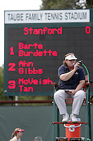 STANFORD, CA - April 9, 2011:  Umpire as play starts in Stanford's 5-2 victory over Washington at Stanford, California on April 9, 2011.