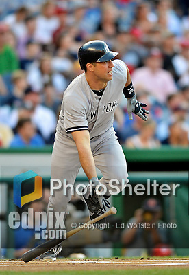 15 June 2012: New York Yankees first baseman Mark Teixeira in action against the Washington Nationals at Nationals Park in Washington, DC. The Yankees defeated the Nationals 7-2 in the first game of their 3-game series. Mandatory Credit: Ed Wolfstein Photo