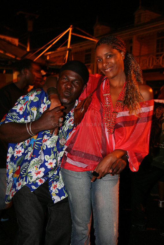 "Scenes from the weekly Friday night ""jump up"" or party at Gros Islet, St. Lucia"