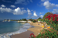 Trinidad & Tobago, Commonwealth, Tobago, Store Bay: frequented beach next to Coco Reef Hotel