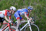 Bjorg Lambrecht (BEL) Lotto-Soudal and Davide Gaudu (FRA) Groupama-FDJ near the end of Stage 5 of the Tour of the Basque Country 2019 running 149.8km from Arrigorriaga to Arrate, Spain. 12th April 2019.<br /> Picture: Colin Flockton | Cyclefile<br /> <br /> <br /> All photos usage must carry mandatory copyright credit (&copy; Cyclefile | Colin Flockton)