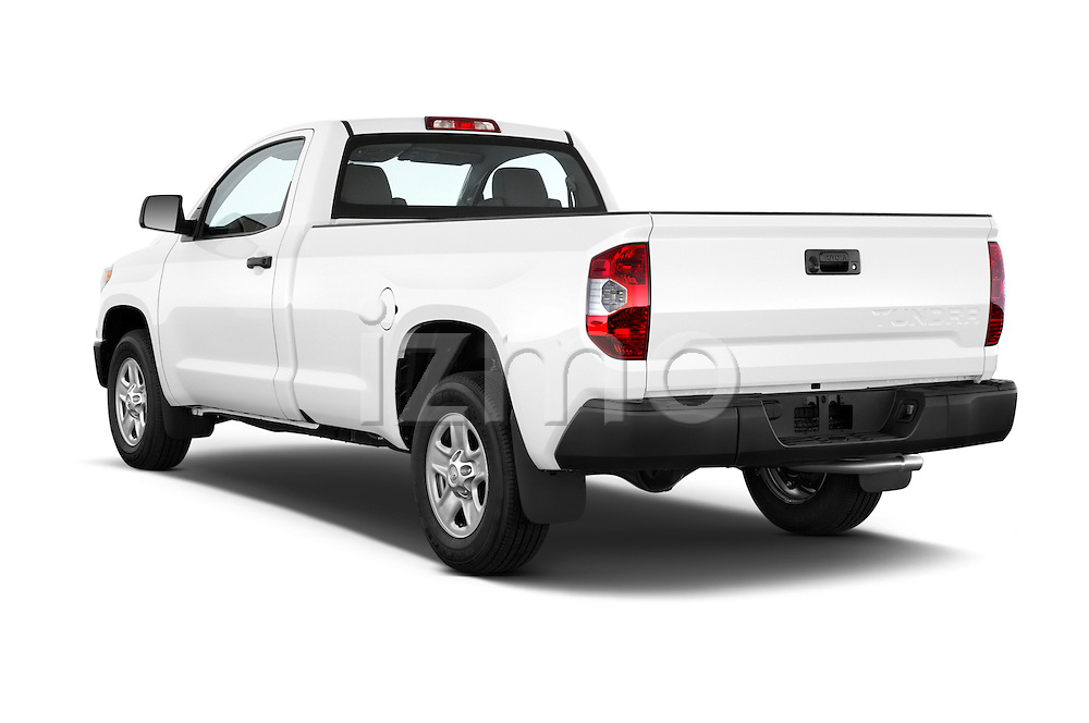Car pictures of rear three quarter view of a 2015 Toyota Tundra 5.7 Auto SR Regular Cab 2 Door Truck Angular Rear