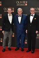Jeffrey Seller, Cameron Mackintosh, Sander Jacobs<br /> The Olivier Awards 2018 , arrivals at The Royal Albert Hall, London, UK -on April 08, 2018.<br /> CAP/PL<br /> &copy;Phil Loftus/Capital Pictures