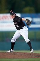 Kannapolis Intimidators relief pitcher Wyatt Burns (11) in action against the Augusta GreenJackets at Kannapolis Intimidators Stadium on June 21, 2019 in Kannapolis, North Carolina. The Intimidators defeated the GreenJackets 6-1. (Brian Westerholt/Four Seam Images)