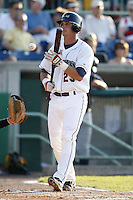 June 24, 2009:  Outfielder John Allman of the Mahoning Valley Scrappers during a game at Eastwood Field in Niles, OH.  The Scrappers are the NY-Penn League Short-Season Single-A affiliate of the Cleveland Indians.  Photo by:  Mike Janes/Four Seam Images