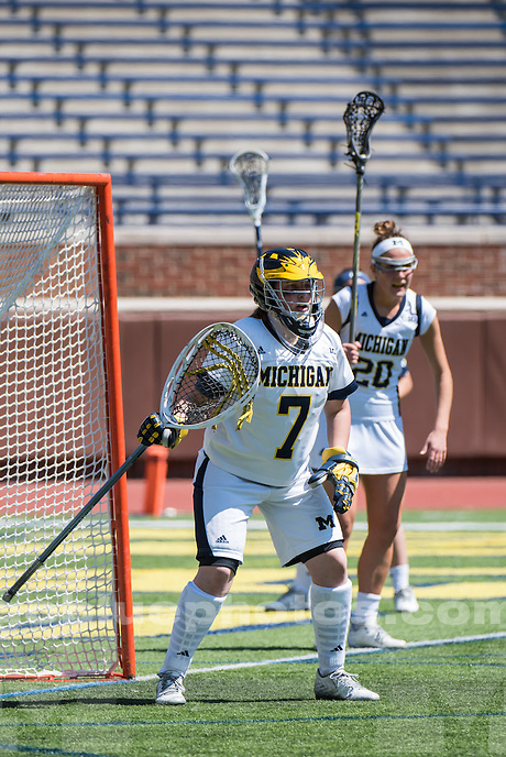 4/17/16  University of Michigan Women's Lacrose team is defeated by Penn State 13 - 8  at the Big House, Ann Arbor, MI.