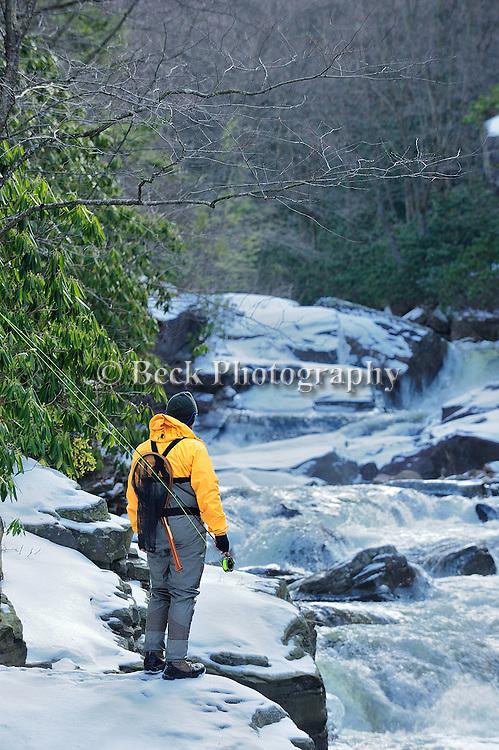 winter trout fishing Mud Run Pa.