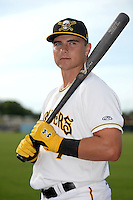 Bradenton Marauders catcher Reese McGuire (7) poses for a photo before a game against the St. Lucie Mets on April 11, 2015 at McKechnie Field in Bradenton, Florida.  St. Lucie defeated Bradenton 3-2.  (Mike Janes/Four Seam Images)