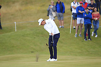 Jacques Kruyswijk (RSA) on the 1st fairway during Round 1 of the Dubai Duty Free Irish Open at Ballyliffin Golf Club, Donegal on Thursday 5th July 2018.<br /> Picture:  Thos Caffrey / Golffile