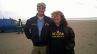 Pictured: Murder victim Fiona Scourfield (R) with racing driver Don Wales (L)<br /> Re: A boy, 16, has been arrested on suspicion of murder following an incident in St Clears, west Wales.<br /> Officers were called to a property in Carmarthenshire at about 5.49pm on Tuesday.<br /> Dyfed-Powys Police said the force was investigating the murder of a woman and the teenager was in custody.<br /> An incident room has been set up at Carmarthen Police Station. The force said it was not looking for anyone else.<br /> Next of kin have been informed and are being supported by specialist officers.
