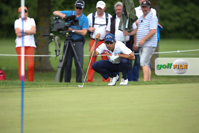 Pablo Larrazabal (ESP) playing from the back of the 15th en route to a 69 during Round Three of the 2015 BMW International Open at Golfclub Munchen Eichenried, Eichenried, Munich, Germany. 27/06/2015. Picture David Lloyd | www.golffile.ie