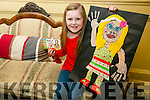 Six-year-old Izzie Slemon Griffin, Listowel - one of the six winners who have had their photo and Painting  on Kinder multipacks across Ireland and the UK
