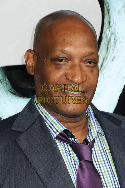 "Tony Todd.""Final Destination 5"" Los Angeles Special Screening held at Grauman's Chinese Theatre, Hollywood, California, USA..August 10th, 2011.headshot portrait grey gray white check purple tie.CAP/ADM/BP.©Byron Purvis/AdMedia/Capital Pictures."