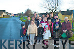 SOMEONE WILL BE KILLED: Residents from Connolly park want ramps put in the estate before someone is killed. Front l-r: Darragh Moriarty, Marian Clifford and Saoirse Moriarty. Back l-r: Amy and Marc Carmody, Holly, Helen and Lochlann Tuohy-Crawford, Garry and Tara Clifford, Darragh and David Kelly, Lauren and Ann Quinn, Annette Carmody, Kayleigh and Anthony Moriarty and Mary Thornton.