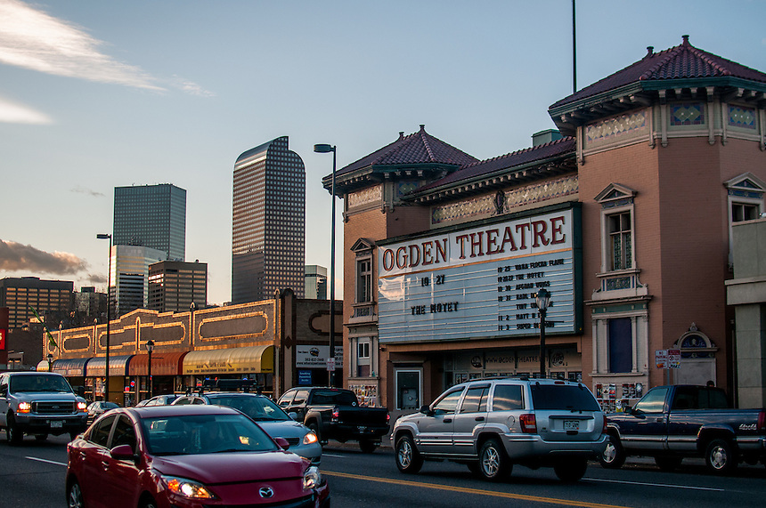 10/27/12 - 2012 Concert Venues. A general view of the exterior of the Ogden Theatre at 935 East Colfax (at Ogden and Colfax) in Denver, Colorado.