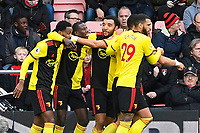 Abdoulaye Doucoure of Watford middle is congratulated on scoring the first goal during AFC Bournemouth vs Watford, Premier League Football at the Vitality Stadium on 12th January 2020